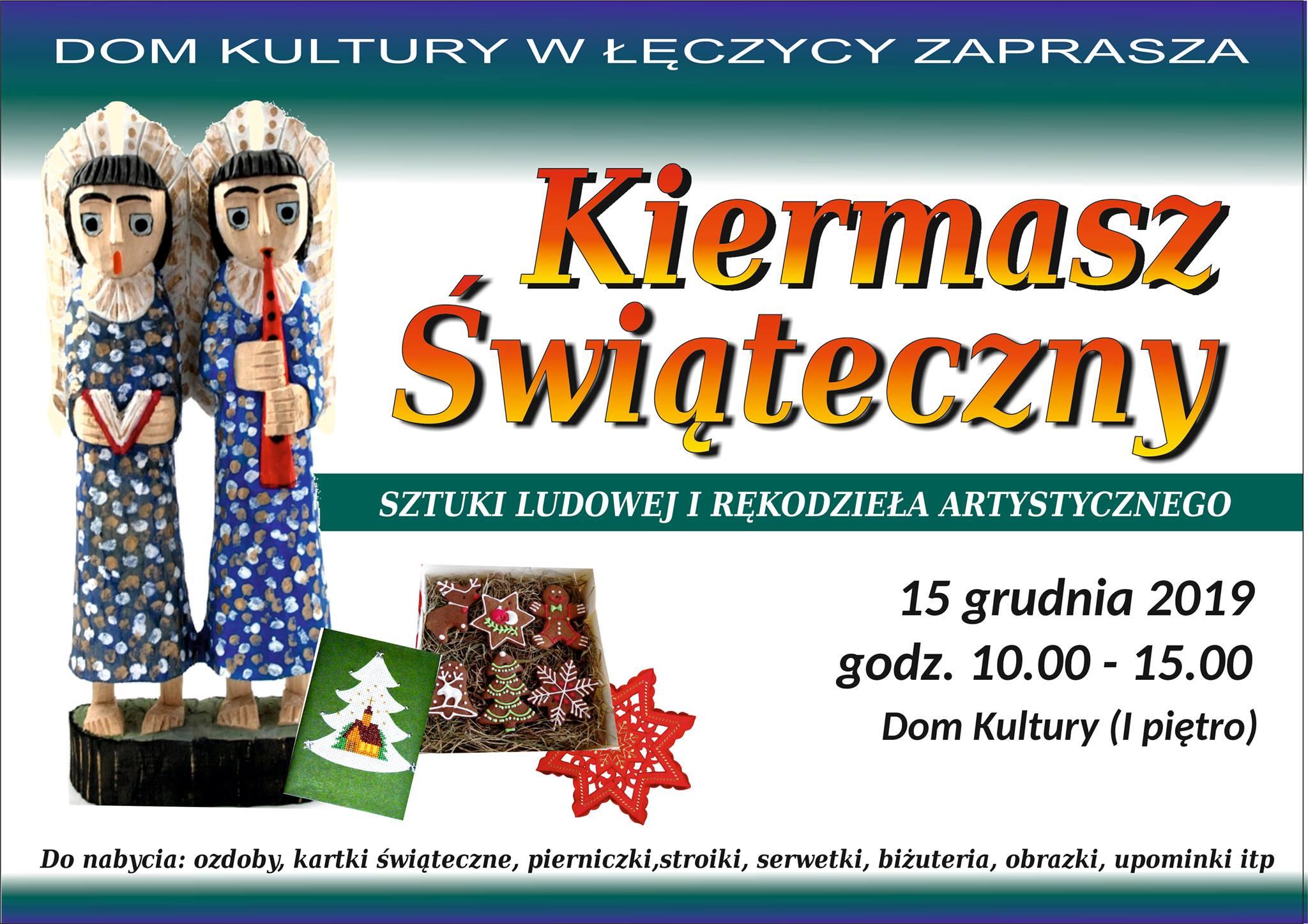 Jarmarki i inne uroczystości świąteczne 2019 w Centrum Polski