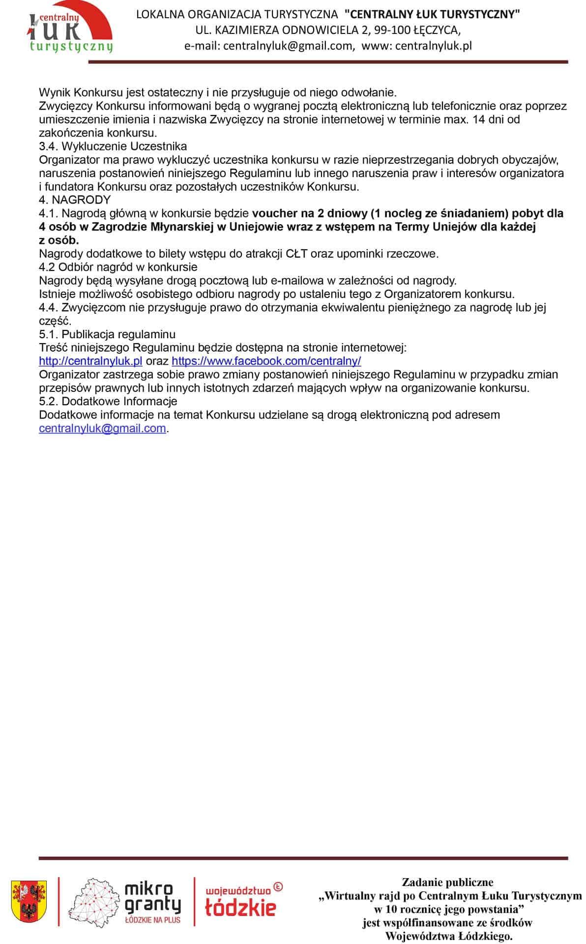Regulamin Konkursu CŁT 2020-2
