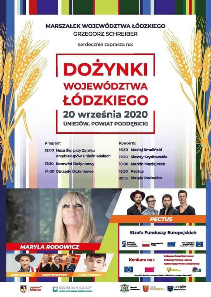 Dożynki Łódzkie Uniejów 2020