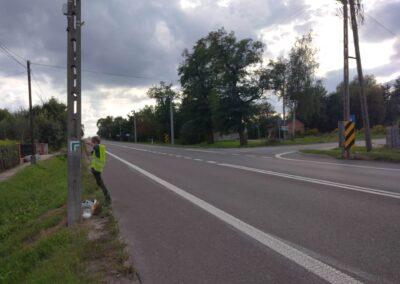 Szlak Bitwy nad Bzurą Łęczyca-Stryków prace znakarskie